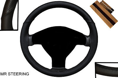 Fancy Black Real Leather Steering Wheel Cover For Vauxhall / Opel Astra H 04-09