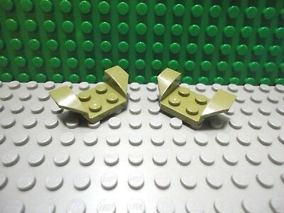 LEGO NEW Dark Brown Vehicle Mudguard 2x4 w// Flared Wings Lot x4 Car Plate 41854