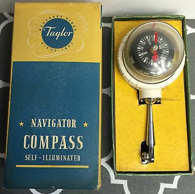 Vintage Taylor Instruments Navigational Compass Model 2957 Self-Illuminated NOS