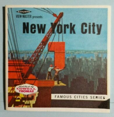 """New York City Famous Cities Series Sawyer's View-Master Packet A-649 """"B"""""""