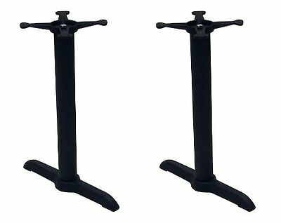 American Trading Company B-22T B-Series Black Indoor Cast Iron Table Base with 2