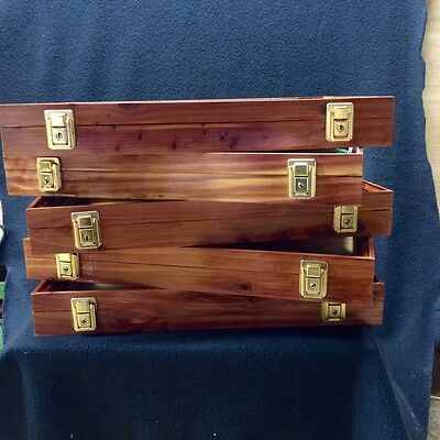 Wood Display Cases Cedar Wood W/ Key Lock From Hatchett Creek Cases 1