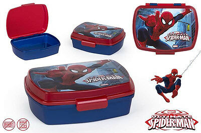 Spiderman Brotdose Lunchbox Brotzeitbox Brotbox Dose Vesperbox Kindergarten NEU