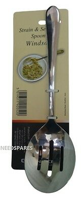 Windsor by Grunwerg Sheffield Stainless Steel Strain & Serving Spoon