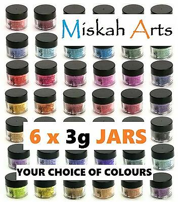 JACQUARD PEARL-EX MICA POWDERS  3g - 6 JARS - YOUR COLOUR CHOICE