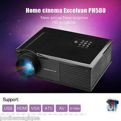 HD 1080P LED Proyector Cine en casa 3200 Lúmenes HDMI/ATV/AV/VGA/USB Digital TV