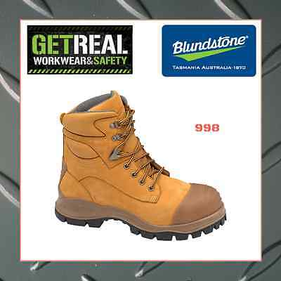 Blundstone 998 & 991 Wheat & Black L/Up Safety Work Boots