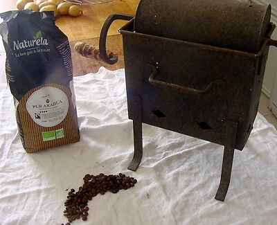 French Antique Barrel Coffee Roaster