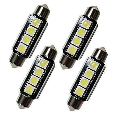 4 x 42mm Soffitte 5050 4 SMD LED Canbus C5W weiß Auto 12V Innenraumbeleuchtung