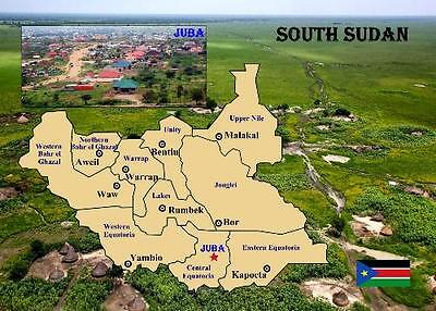 South Sudan Country Map New Postcard