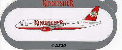 Airbus A320 Kingfisher Airlines Sticker (Very Rare)