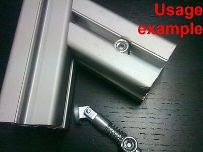 Aluminum T-slot profile variable angle anchor connector 40x40-8mm, 4-set