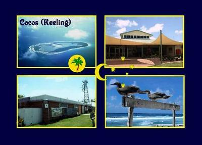 Cocos (Keeling) Islands Multiview New Postcard
