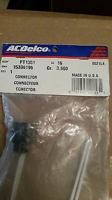 Acdelco Pt1351  2-Way Wire Connector Repair Pigtail With Leads Gm 15306196