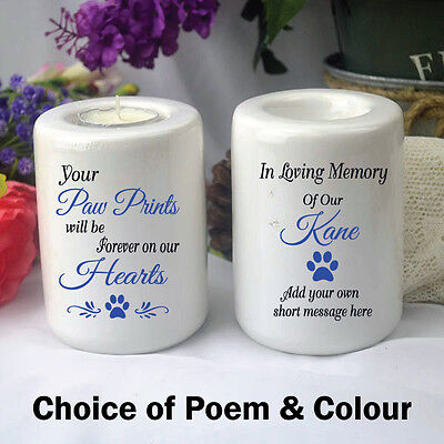 Personalised Pet Memorial Tea Light Candle - Add a Name & Message
