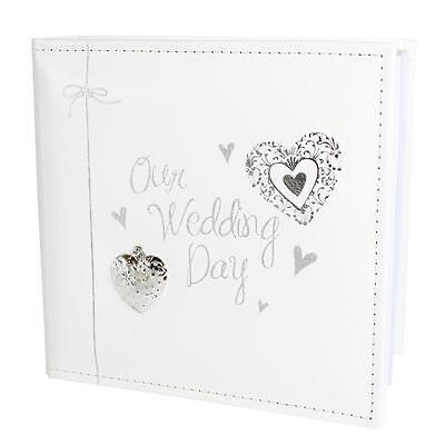 "70501 Modern Hearts ""Our Wedding Day"" Photo Album - Holds 80 Pictures"