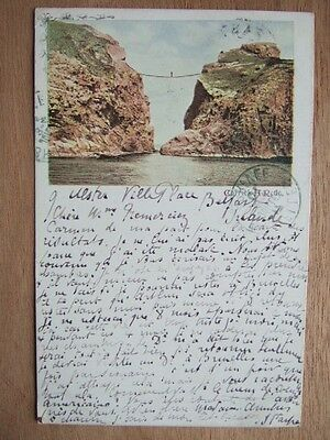 Cpa Irlande Nord Belfast Carrick A Rede Post Card Northern Ireland Rope Bridge