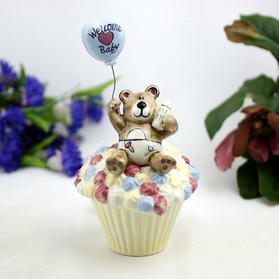Welcome Baby Boy Cupcake Trinket Box Gift | Newborn | Baby Shower | Keepsake