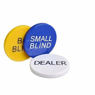 Set Poker Buttons Big and Small Bling & Dealer Button Quality Texas Holdem Chips