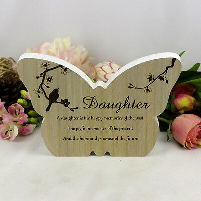 Sincerity Butterfly Sentiment Plaque - Daughter   Inspiration Gift