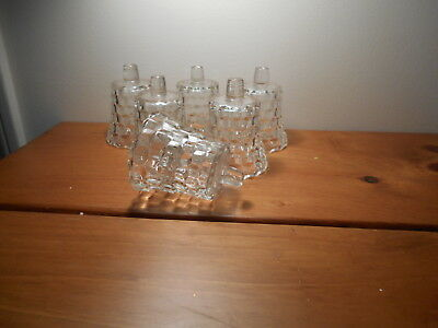 Clear Lady Love  glass Votive Cups Lot of  6 Homco Home Interiors