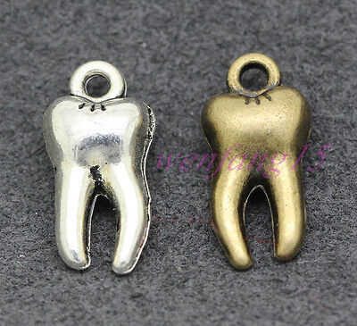 Tibetan silver Charms Exquisitely beautiful  tooth pendant 15x7mm 1.4g