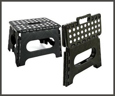 Folding Step Stool Easy Storage Handy Light Weight Strong Stand On Sit On Stool