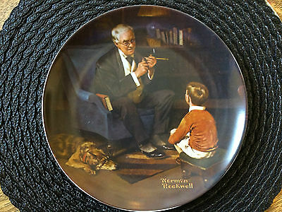 The Tycoon Norman Rockwell 6th in the Rockwell HC Collector Plate  1882 8.5""