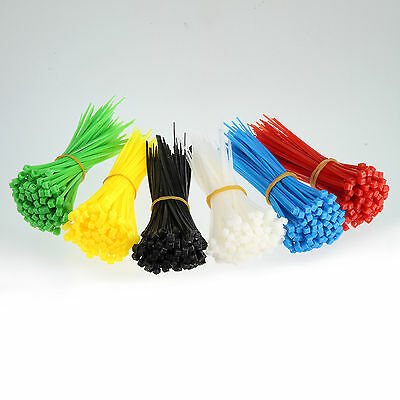 "Lot of 100pcs 4"" Nylon Plastic Cable Ties Heavy Duty Industrial Wire Zip Ties"