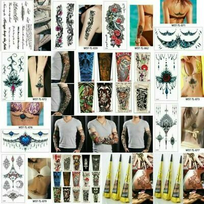 Punk Natural Herbal Henna Cones Temporary Tattoo Kit Body Art Paint Mehandi Ink
