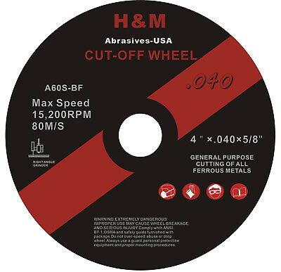 """25 Industrial 4.5""""x.040""""x7/8"""" Cut-off Wheel Stainless Steel & Metal Cutting Disc"""