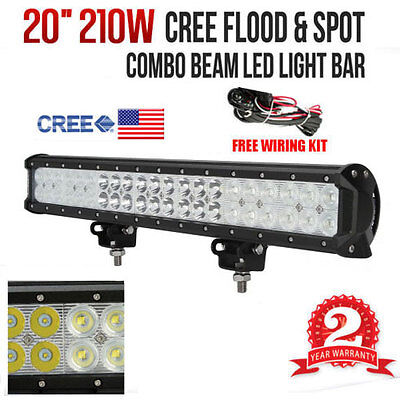 20inch 210W CREE LED Working Light Bar Flood/Spot Combo Beam Truck SUV Off Road