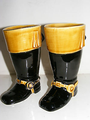 Pair Sylvac Riding Boots With Crop Handle - 4584