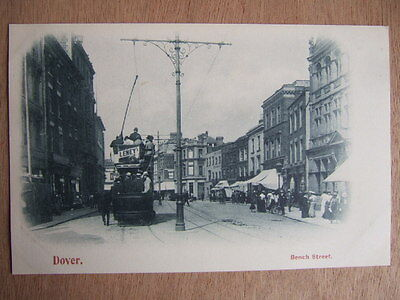 Cpa Dover (Royaume Uni) Bench Street. Tramway. Animated.