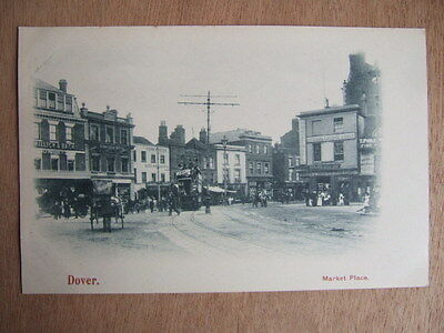 Cpa Dover (Royaume Uni) Market Place. Tramway. Animated.