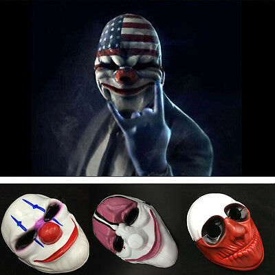 Game Payday 2 Chains Dallas Wolf Hoxton Costume Dress Props Cosplay Party Mask