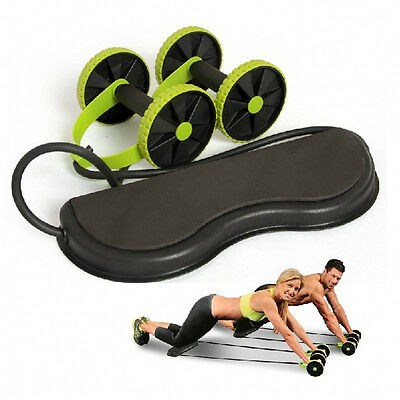 ABS Abdominal Exercise Wheel GYM Workout Fitness Body Stretch Training Roller
