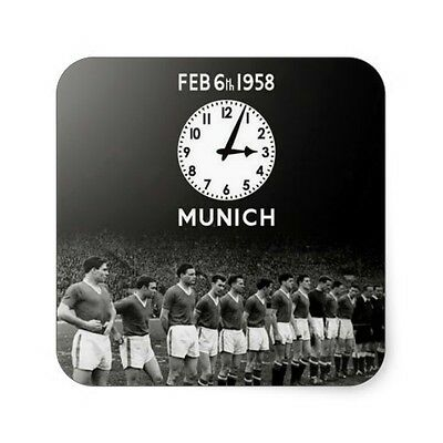 Busby Babes 4 Coaster With Team And Clock On Them