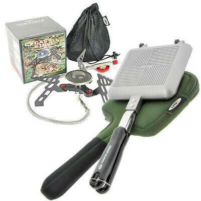 NGT Gas Stove & Toastie Maker With Case Toaster Carp Fishing Camping