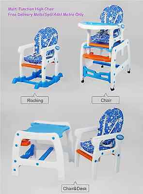 New Design 3 in1 Adjustable Baby High Chair Dinning Set Rocker Study Table