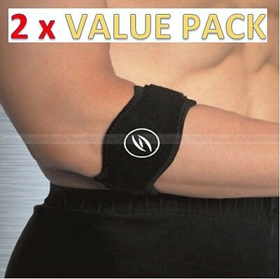 2 x Tennis Golfers Elbow Support Brace Strap Band Forearm Protection Pain Relief