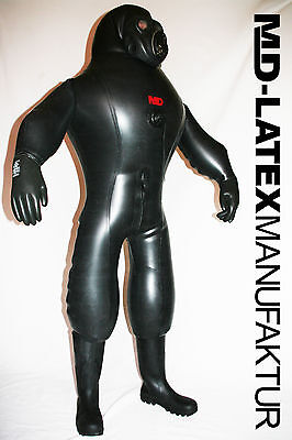 "MD-LATEX ""Black Cyborg"" 1,5mm aufblasbar NEU Heavy Rubber  Latexanzug Latex"