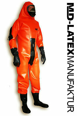 "MD-Latex - ""Hazmat"" 1,2mm  - Latexanzug Latex Rubber Latexoverall Ganzanzug"