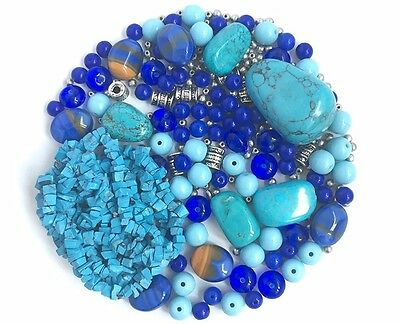 DIY Jewelry Bead Mix Kit Turquoise