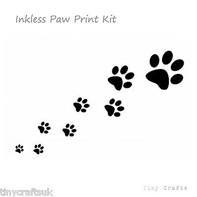 TinyCrafts, Print Dog Cat Rabbit Pet Keepsake Inkless Paw Print Kit Gift
