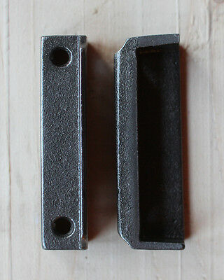 CAST IRON RIM LOCK DOOR KEEP 77mm ~ BRITISH MADE VICTORIAN RIMLOCK KEEPS ~ KP10