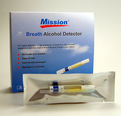 Pack of 3 (0.02% BAC) Single Use Breathalyser Alcohol tests CE & FDA approved