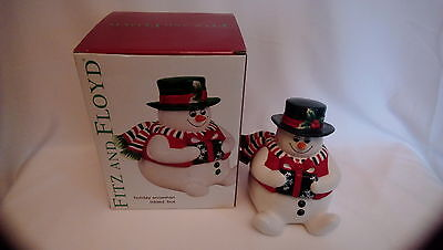 Fitz and Floyd Holiday Snowman Lidded Box