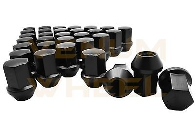 2010-2017 Chevy Camaro Black Factory OEM Lug Nuts 14x1.5 Thread 22mm Hex