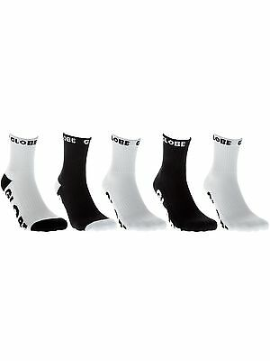 Globe Black- White Logo II Pack of 5 Kids Socks